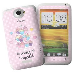 Personalised Cupcake HTC One X Phone Skin  from Personalised Gifts Shop - ONLY £7.95 Personalised Cupcakes, Personalized Gifts For Her, Gifts Under 10, Christmas Gifts For Her, Htc One, Gifts For Women, Phone Cases, Search, Shop