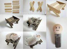 Quer fazer um presépio de natal? O Presépio representa a família sagrada e a magia dessa época, por isso faça com materiais simples esse artesanato.                                                                                                                                                                                 Mais