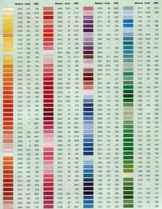 madeira coats dmc - Madeira Color Chart