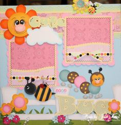 Cute as a Bug  by Julie61554 you could also adapt the colors and use this layout for a little boy