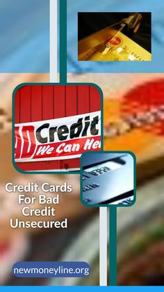 Credit Cards For Bad Credit Unsecured. Credit cards for bad credit are not impossible to find, but they can be a very difficult decision to make. There are many advantages to using a credit card for bad credit, so it is not a difficult choice. It is a matter of finding the best credit card for you and making sure that you use the card wisely, so that you will keep the score high and the interest rates low. Bad Credit Credit Cards, Paying Off Credit Cards, Business Credit Cards, Loans For Bad Credit, Best Credit Cards, Free Credit, I Need A Loan, Improve Credit Score, Credit Card Application
