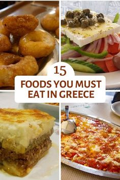 15 of the foods you must try in Greece - this list contains some of the best foods you can eat in Greece. You can find them all on a food tour in the city. A Food, Food And Drink, Greek Recipes, Italian Recipes, Unique Recipes, Ethnic Recipes, Mediterranean Recipes, Food Lists, International Recipes