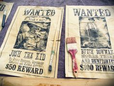 wanted posters -- Greatfun4kids: Wild West Party How To's (with Free Printables)