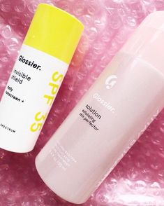 """Glossier on Instagram: """"Chemical exfoliators like Solution increase sensitivity to the sun, so if you use Solution in the morning, make sure you follow with…"""""""