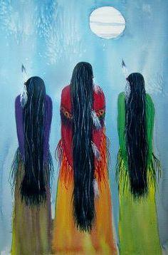 Mulher, Native American Art.