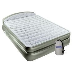 intex raised downy queen airbed with built-in electric pump - http