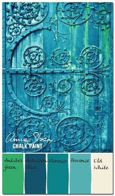 Colorways: Annie Sloan: Verdigris Antique Door