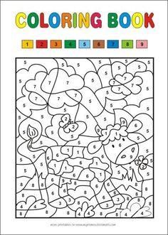 ausmalbild malen nach zahlen: osterküken ausmalen kostenlos ausdrucken | malen nach zahlen