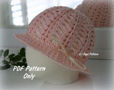 Girl's Summer Hat Crochet Pattern Size 3-5 von olgascrochetfrenzy