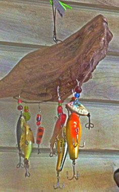 Driftwood and Lures, put the last name on the diftwood, pretty neat idea