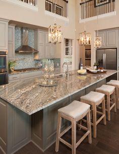 Bright kitchen scenery room.