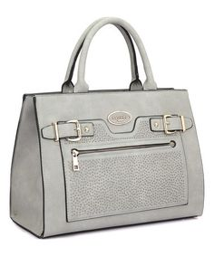 Another great find on #zulily! Gray Belted Tote & Wallet #zulilyfinds