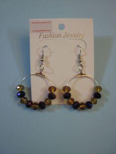 orecchini ad anella con perline, by L'uncinetto tutto matto, 7,00 € su misshobby.com