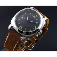 Now available on our store: Parnis 44mm Black... Check it out here! http://parniswatches.net/products/parnis-44mm-black-dial-pam-1950-style-bow-glass-hand-winding-watch