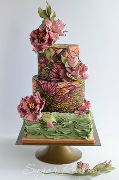 Stained Glass Wedding Cake!