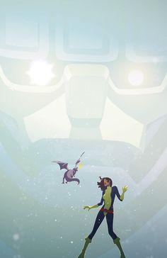Shadow of the Colossus - Kitty Pryde & Lockheed vs. Marvel Comics Art, Marvel Comic Books, Comic Book Characters, Marvel Characters, Comic Books Art, Comic Art, Marvel Dc, Marvel Villains, Marvel Heroes