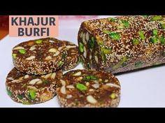 Presenting to you a healthy sugar free Khajur Burfi recipe. Indian Dessert Recipes, Indian Sweets, Sweets Recipes, Fruit Recipes, Snack Recipes, Diwali Recipes, Healthy Sugar, Healthy Sweets, Cupcakes