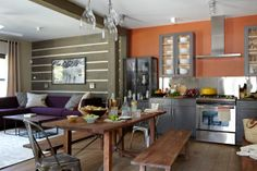 The perfect balance of contemporary, rustic and industrial that gives this kitchen that personal signature of style!  (Cultivate.com)