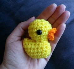 Lil Other Brother – a tiny duck - free crochet pattern at Hookers Don't Bite.
