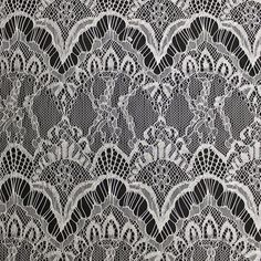 "Off White 60"" Britney Pattern Lace Fabric by the Yard - Style 165"