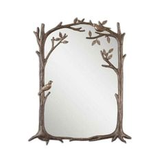 Perching Birds Wall Mirror