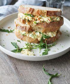 Imagen de food and egg salad sandwiches Food N, Food And Drink, Egg Salad Sandwiches, Healthy Cooking, Salmon Burgers, Afternoon Tea, Nom Nom, Snacks, Baking