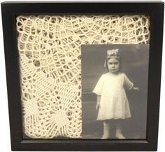 neat way to display a family heirloom and photo