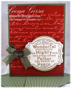 A La Cards: Prince of Pease single stamp from Stampin' Up!