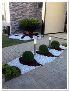70 Magic Side Yard and Backyard Gravel Garden Design Ideas - Garten Courtyard Landscaping, Backyard Garden Design, Front Yard Landscaping, Landscaping Ideas, Backyard Ideas, Garden Ideas, Garden Design Ideas, Inexpensive Landscaping, Florida Landscaping