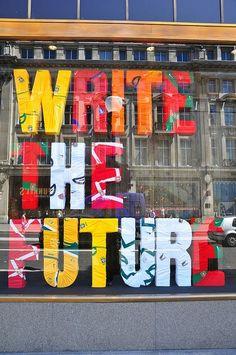 Nike Write The Future ad at the Niketown store on London's Tottenham Court Road, via Flickr. #Uncategorized