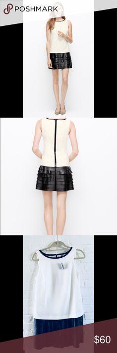 Ann Taylor Faux Leather Tiered Skirt Dress Gorgeous Dress!! Ann Taylor Dresses