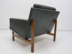 Sven Ellekaer danish Modern Rosewood Leather Lounge Club Chair Rolschau Mobler 6