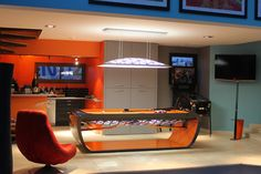Blacklight Billard table by Toulet