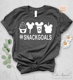 Snackgoals Unisex T-Shirt Disney inspired Shirts Cute Tops Novelty Love Christmas Gift Disney Snacks, Disney Trips, Shirts With Sayings, Quote Shirts, Disney Inspired, Graphic Sweatshirt, T Shirt, Cute Tops, Unisex