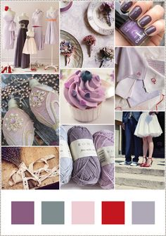 nice color palette for lavender room with light pinks and grey/blues