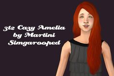 Hair retexture Tuesday :D 6 natural colors, gray linked to black. Meshes and bodyshop swatches are included :) Credits: Cazy, Martini, Simgaroop Download Cazy Amelia - Alternate Download Cazy...