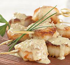 Pan Seared Scallops w/ Wasabi Ginger Sauce... Happy Hour Appetizers 11 | Hampton Roads Happy Hour - 1, g.11.4