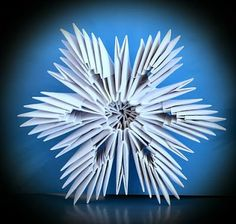 3d Origami Snowflakes. howto