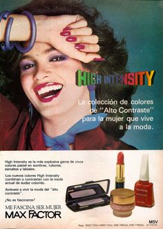 "Max Factor ""High Intensity"" Cosmetics Ad"
