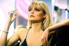 Michelle Pfeiffer as Elvira in Scarface,  1983.