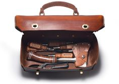 THE RIGHT ANGLE - thre3f: Handmade Leather & Solid Brass Tool Box...