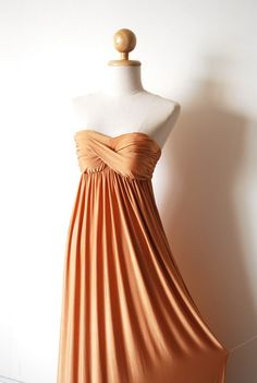 Gorgeous Bright Gold Evening Dress by pinksandcloset on Etsy, $55.00