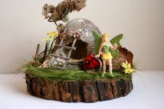 Miniature Fairy Garden Fairy House by AbateArts on Etsy, $30.00