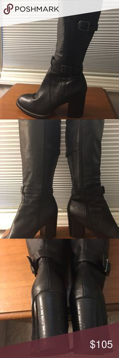 Gorgeous Joan & David black boots, genuine leather Stunning boots, barely worn. Joan & David Shoes Heeled Boots
