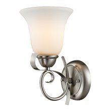 View the Cornerstone Lighting 1001WS Brighton 1 Light Bathroom Sconce with Frosted Glass Shade at LightingDirect.com.