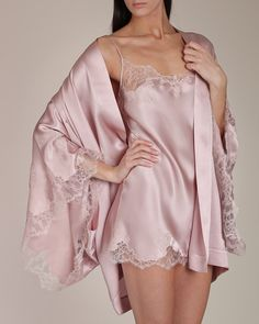 """""""I knew you'd look gorgeous in this silky babydoll. I just couldn't resist buying the matching silk wrap too. I think it was well worth it. So tell me, how does it feel on. Lingerie Chic, Lingerie Fine, Jolie Lingerie, Pretty Lingerie, Luxury Lingerie, Beautiful Lingerie, Lingerie Sleepwear, Nightwear, Ropa Interior Babydoll"""
