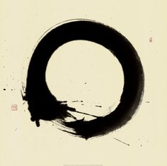 Tanaka Ichi En So Japanese Zen Fine Art Poster Print x inches Kreis Logo, Art Zen, Tinta China, Kunst Poster, Japanese Calligraphy, Art Graphique, Japanese Art, Asian Art, Art Prints