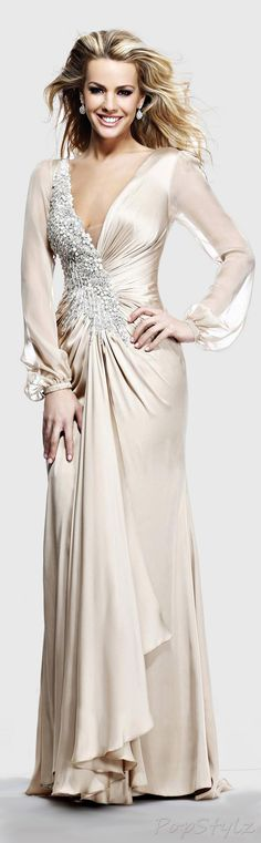TARIK EDIZ Evening 2014 Gown I would modify the neckline, but other than that, this is a winner!