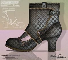 'MD' Beautiful Drawings from Massimo D'ascenzo.   Contemporary Ladies Boots with detachable front panel.  Pls. Follow me on Instagram@massimodascenzo:))   www.massimod.com    #luxury#shoes#handbags#love#fashionAddict.   https://www.facebook.com/pages/ Massimo-Dascenzo-Luxury-Jewellery-Handbags/485052561622939?ref=hl
