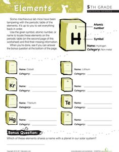 How to learn the periodic table in 3 minutes periodic table fifth grade physical science worksheets master the periodic table of elements 2 urtaz Choice Image